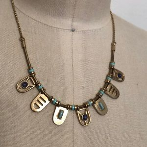 """Egyptian inspired necklace.  17"""" long"""